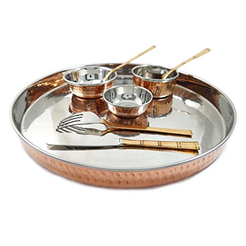 Traditional steel copper 8 pcs kitchen set dinnerware for Kitchen set royal