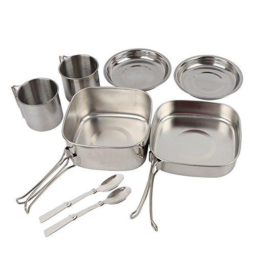 NATUREFUN Camping Mini  Cookware Mess Kit Stainless Steel