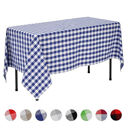 veeyoo 60 x 84 inch 152 x 213 cm rectangular 100 cotton plaid tablecloth gingham for home. Black Bedroom Furniture Sets. Home Design Ideas
