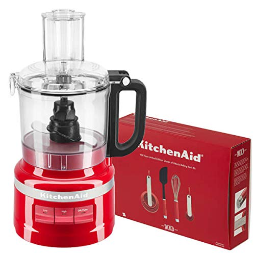 Kitchenaid 1 7l Empire Red Food Processor With Free Gift